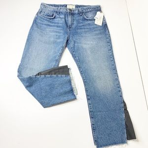 NWT Current Elliott cropped kick jean with insert